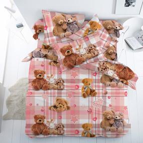 Бязь Комфорт 150 см набивная Тейково рис 13129 вид 1 Плюшевые мишки фото