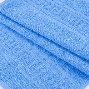 Полотенце махровое 70/140 см цвет 012 голубой фото