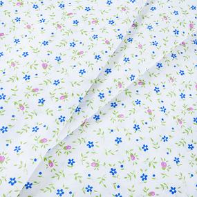 Ткань на отрез бязь ГОСТ 150 см 361/2 Полянка цвет синий фото