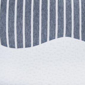 Подушка анатомическая с двумя валиками чехол п/э с контрастной отделкой 50/30 фото