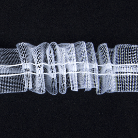Тесьма шторная Престиж 315К ширина 25 мм (100 м) цвет белый фото