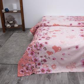 Пододеяльник из бязи 332/1 Китайская сакура цвет персик, 1,5 спальный фото