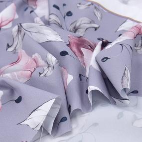 Ткань на отрез ниагара 150 см D0807-2 Крупный цветок на сиреневом фото