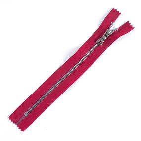 Молния металл №3ТТ никель н/р 18см D171 красный фото