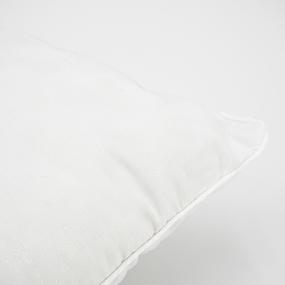 Наперник Тик кант молния Перо серебро на белом 50/70 фото