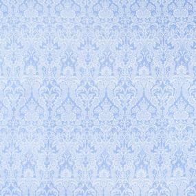 Мерный лоскут бязь плательная 150 см 402/3 Дамаск цвет голубой фото