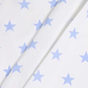 Бязь плательная 150 см 8130/31 Звезды крупные голубой б/з фото