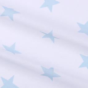 Бязь плательная 150 см 8130/36 Звезды крупные ментол б/з фото