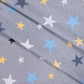 Бязь плательная 150 см 8127/2 Звезды компаньон Мишки (пэчворк) серый фото