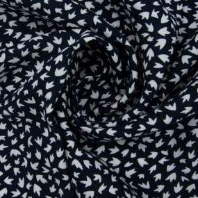 Ткань на отрез штапель 150 см 2445 d12 цвет темно-синий фото