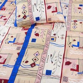 Постельное белье из бязи ГОСТ 133/1 Стамбул бежевый 1.5 сп с 1-ой нав. 70/70 фото