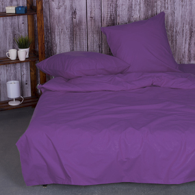 Постельное белье из поплина Черника 2-х сп с евро простыней фото
