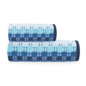 Полотенце махровое Sunvim 18-17 Мозаика 65/135 см цвет синий фото