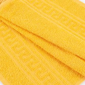 Полотенце махровое 50/90 см цвет 204 ярко-желтый фото