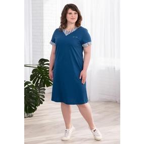Платье 0939 цвет Индиго р 50 фото