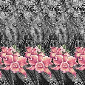 Перкаль 220 см набивной арт 239 Тейково рис 6696 вид 1 Дикая орхидея фото