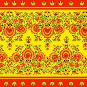 Ткань на отрез вафельное полотно набивное 80 см 74652 фото