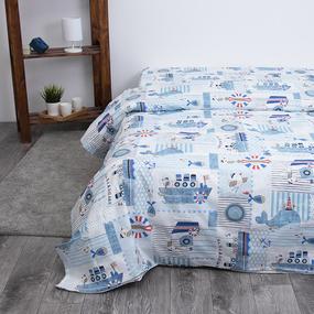 Детское постельное белье из бязи 1.5 сп 197621 Кораблики фото