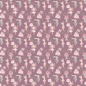 Ткань на отрез бязь премиум ГОСТ детская 150 см 13211/2 Балеринки фото
