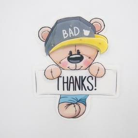 Нашивка Мишка THANKS 3D 17*14см фото