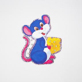 Нашивка Мышка с сыром 20*17см фото