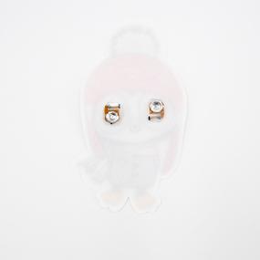 Нашивка Пингвиненок в красной шапке бегающие глазки 20*10см фото