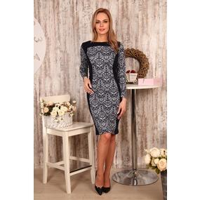 Платье Жасмин узоры Д439 р 60 фото