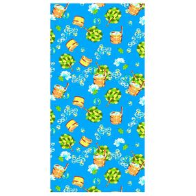Полотенце вафельное банное 150/75 см 376/1 Баня цвет синий фото