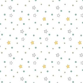 Ткани на отрез сатин детский 150 см 7354/1 Ночные прогулки (компаньон) фото