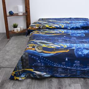 Детское постельное белье из бязи 1.5 сп 192441 Неон 1 син фото
