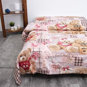 Детское постельное белье из бязи 1.5 сп 193551 Плюшевые мишки 1 роз 1 фото