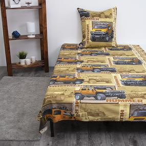 Детское постельное белье из бязи 1.5 сп 191951 Сафари 1 желт фото