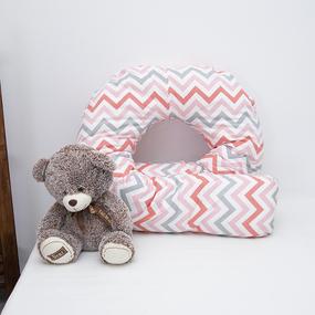 Наволочка поплин на подушку для беременных U-образная 1797/5 цвет красный фото