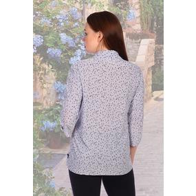 Блузка Облик 6639 синяя р 50 фото