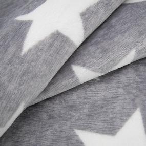 Ткань на отрез велсофт Orrizonte 250 гр/м2 200 см 1766 Звезды на сером фото