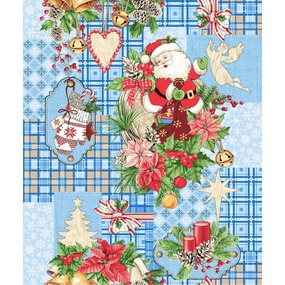 Полотно вафельное 50 см набивное арт 60 Тейково рис 5642 вид 1 Дед Мороз фото