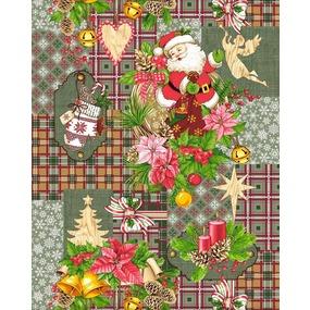 Полотно вафельное 50 см набивное арт 60 Тейково рис 5642 вид 2 Дед Мороз фото
