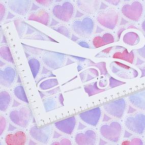 Ткань на отрез перкаль 150 см 8808/1 Сердечки фото
