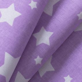 Ткань на отрез перкаль 150 см 13165/15 Звезда цвет сиреневый фото