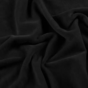 Ткань на отрез велюр цвет EGR0433880 черный фото