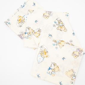 Набор детских пеленок поплин 4 шт 73/120 см 1841/1 цвет бежевый фото