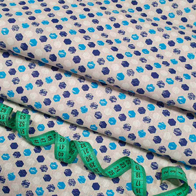 Бязь плательная 150 см 11697/2 цвет синий фото