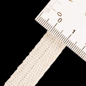 Тесьма киперная 15 мм хлопок 1,9г/см арт.ЛКЭ-15СХ-50 цв.суровый фото
