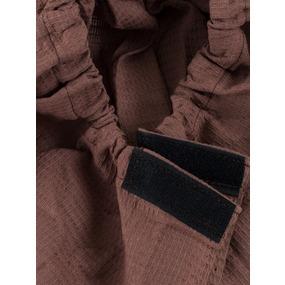 Вафельная накидка на резинке для бани и сауны мужская цвет шоколадный фото