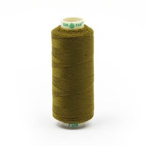Нитки бытовые Dor Tak 40/2 366м 100% п/э, цв.709 оливковый фото
