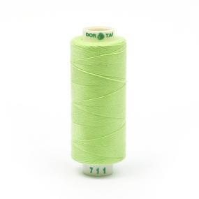 Нитки бытовые Dor Tak 40/2 366м 100% п/э, цв.711 св.зеленый фото