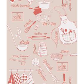 Ткань на отрез вафельное полотно 50 см 5578/5 Шеф-повар фото