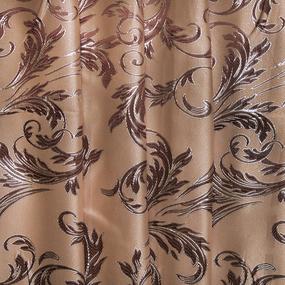 Мерный лоскут портьерная ткань с люрексом 150 см Х7187 цвет 11 бежевый ветка фото