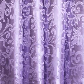 Мерный лоскут портьерная ткань 150 см 19 цвет сиреневый вензель фото