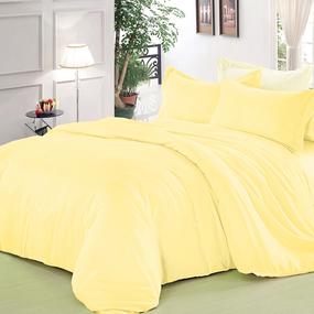 Полисатин гладкокрашеный 220 см цвет 11-0609 желтый фото